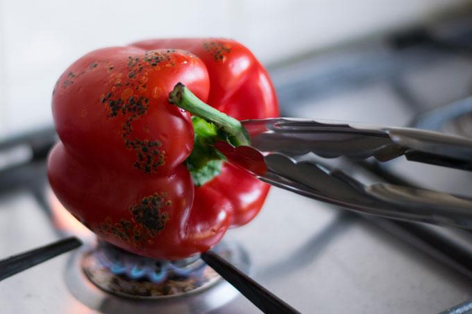 Geroosterde-paprika-tang