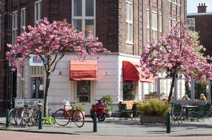 cafe restaurant pan buiten