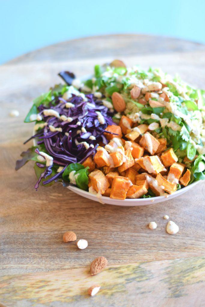 quinoa salade met zoete aardappel 1 - Anniepannie.nl