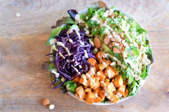quinoa salade met zoete aardappel - Anniepannie.nl