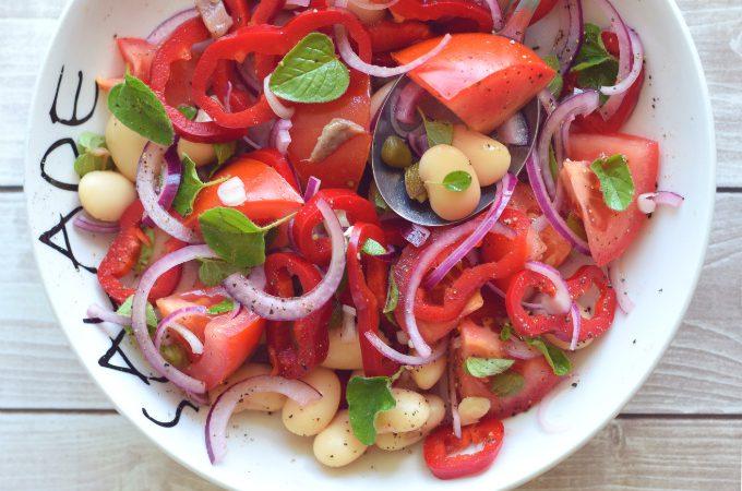 Salade van reuzenbonen tomaat en oregano 1 - Anniepannie.nl