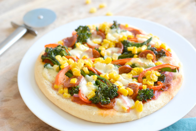 Pizza met chorizo - Anniepannie.nl
