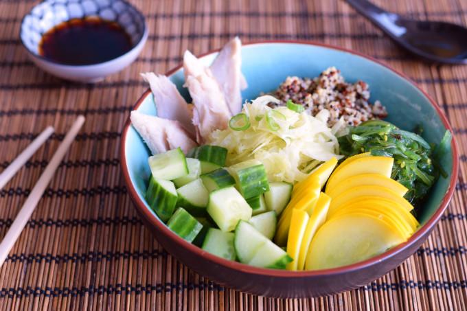 Quinoa bowl met makreel - Anniepannie.nl