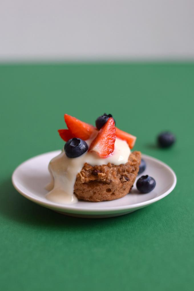 Ontbijtmuffins met havermout en banaan - Anniepannie.nl