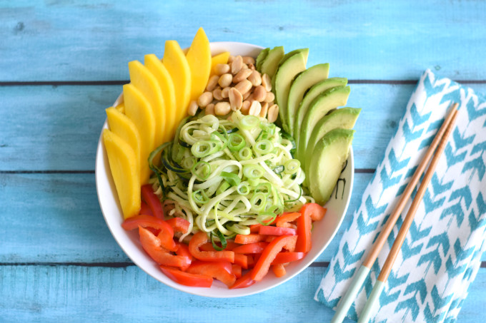 salade bowl met mango - Anniepannie.nl