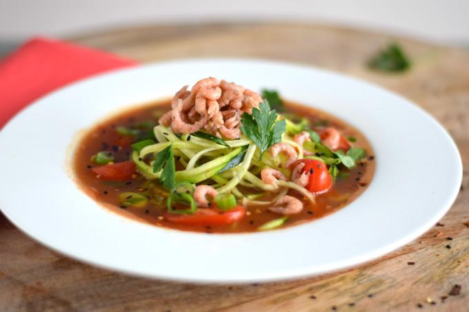 Tomatensoep met garnalen - Anniepannie.nl