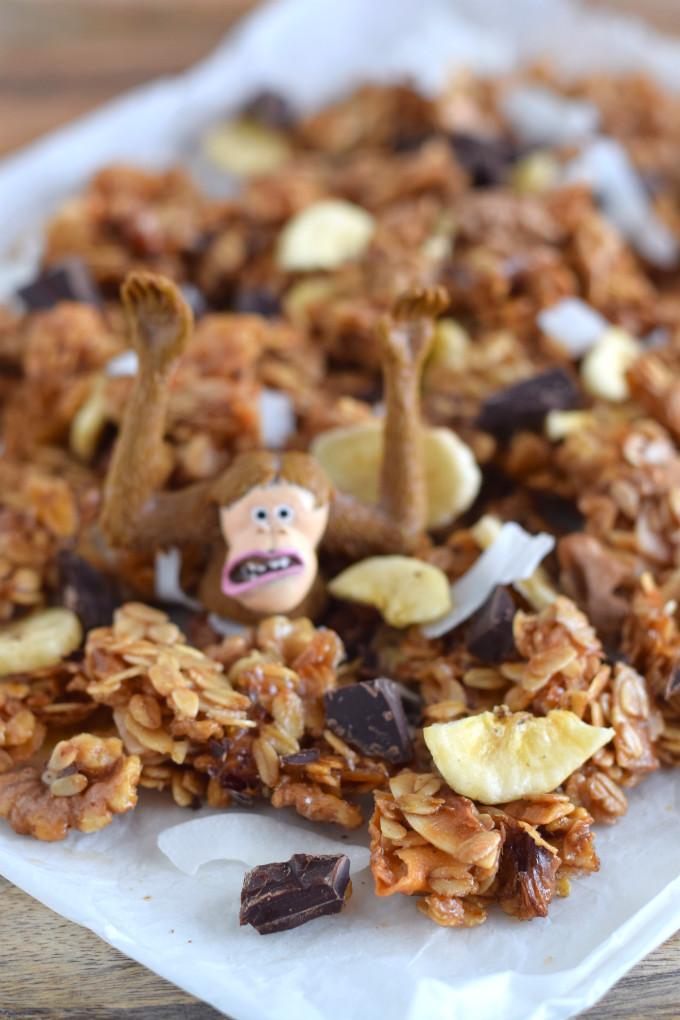 Chunky monkey granola met chocola - Anniepannie.nl