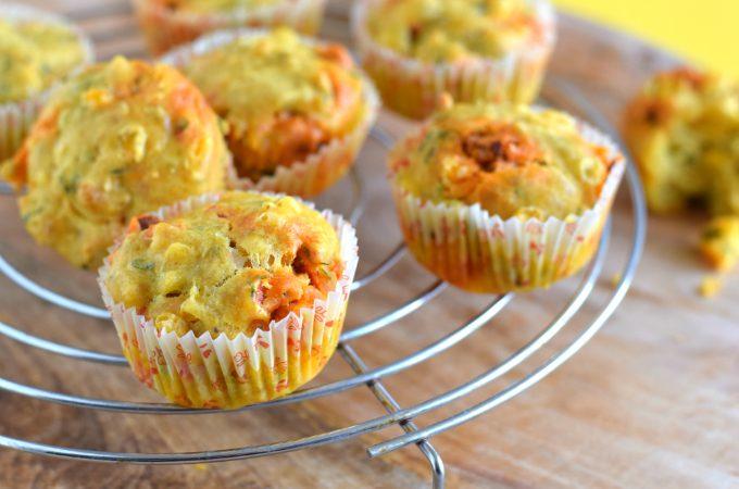 Hartige muffins met chorizo, mais en paprika