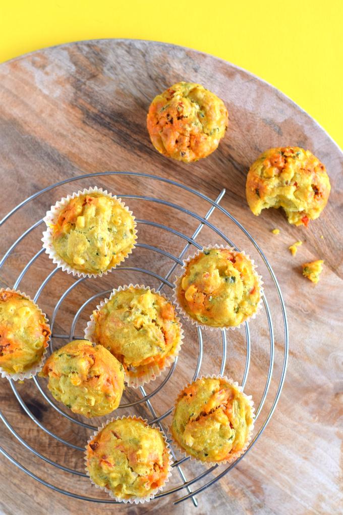 Hartige muffins met chorizo en mais - Anniepannie
