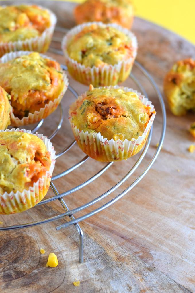 Hartige muffins met chorizo, mais en paprika - Anniepannie
