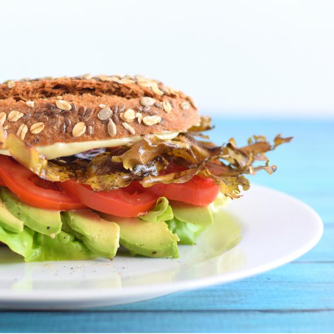 vegan blt met zeewierbacon en avocado - Anniepannie