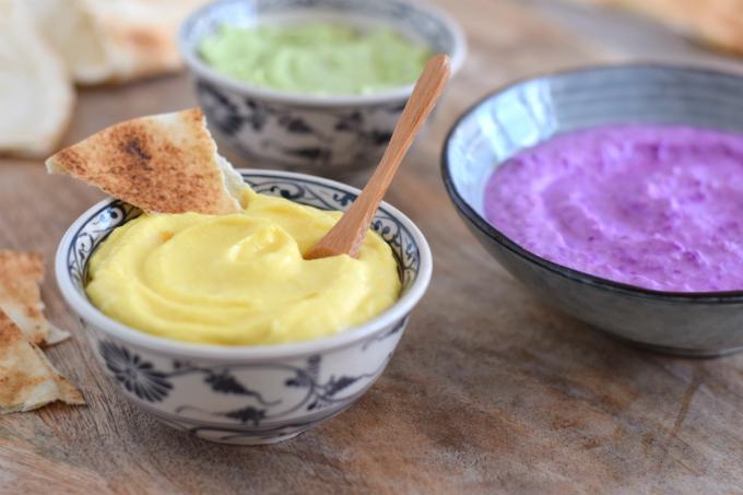 Mango feta dip met platbrood - Anniepannie