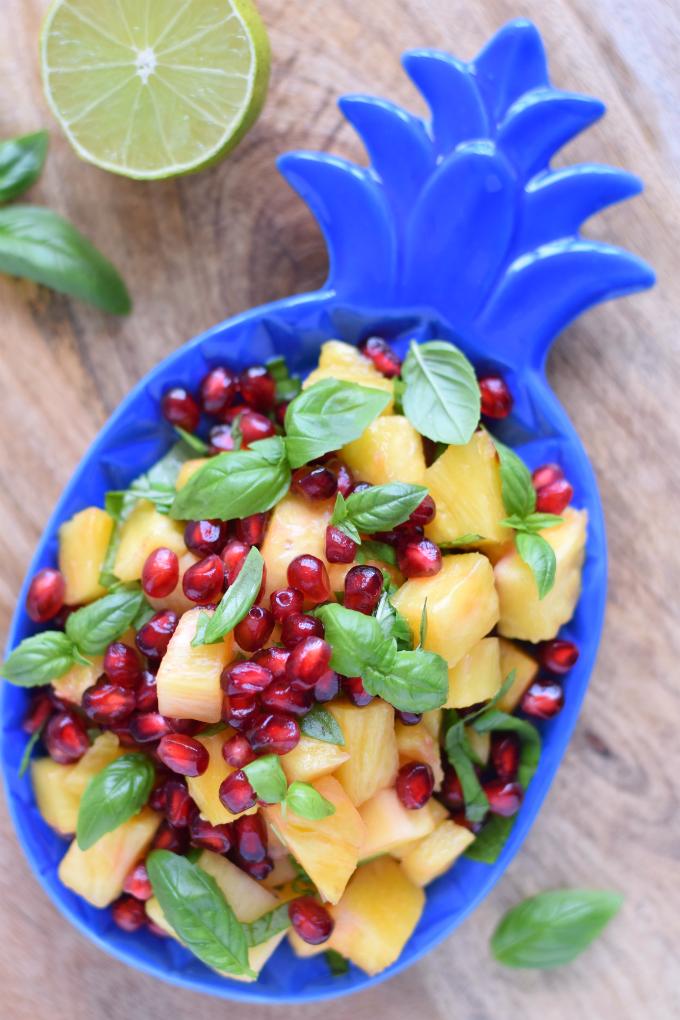Fruitsalade met ananas en granaatappel - Anniepannie
