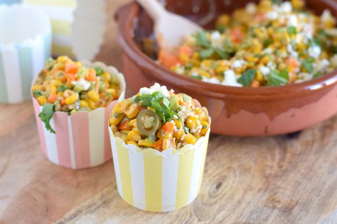 Mexicaanse maissalade Esquites - Anniepannie