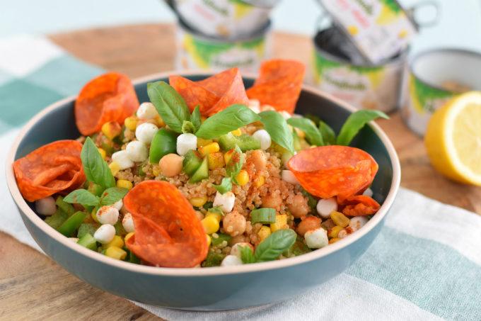 Quinoa salade met chorizorozen - Anniepannie