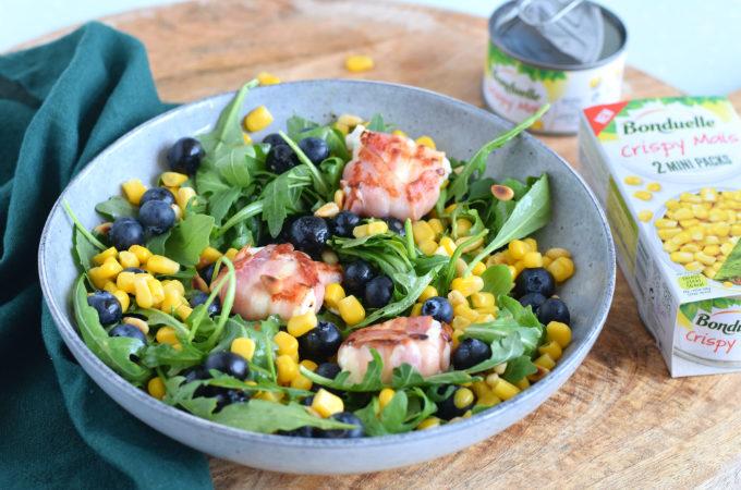 Salade met blauwe bessen en mais - Anniepannie