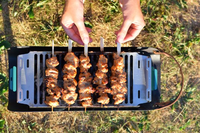 Libanese kipspiesjes BBQ - Shish Taouk - Anniepannie