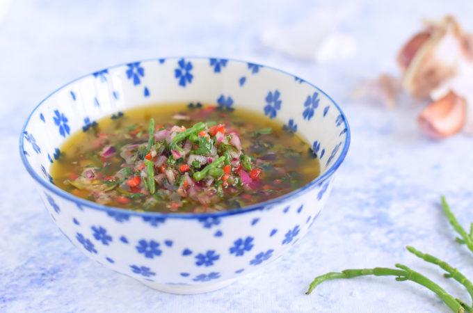 Chimichurri met zeekraal! Een saus voor vis, vlees én groente