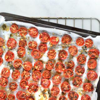 Gedroogde tomaatjes uit de oven - Anniepannie