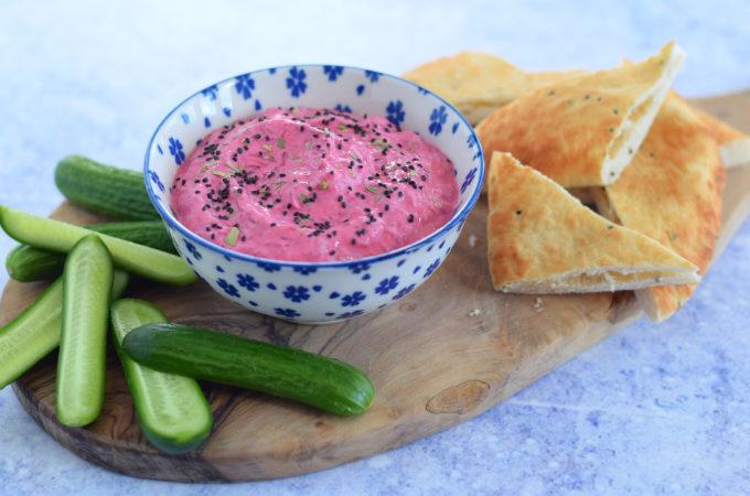Bietendip met yoghurt en dragon - Anniepannie
