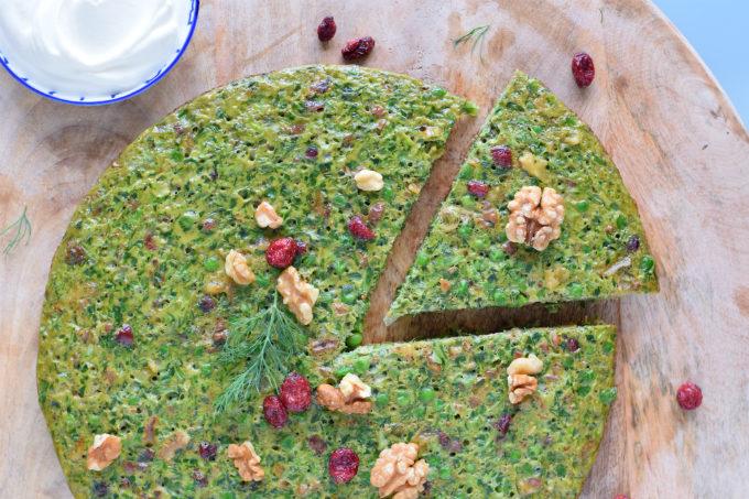 Kuku sabzi met doperwten - Perzische kruidenomelet | Anniepannie