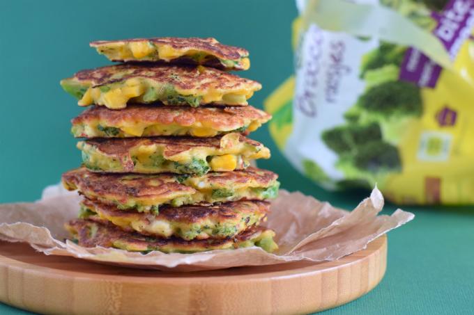 Maiskoekjes met broccoli - anniepannie