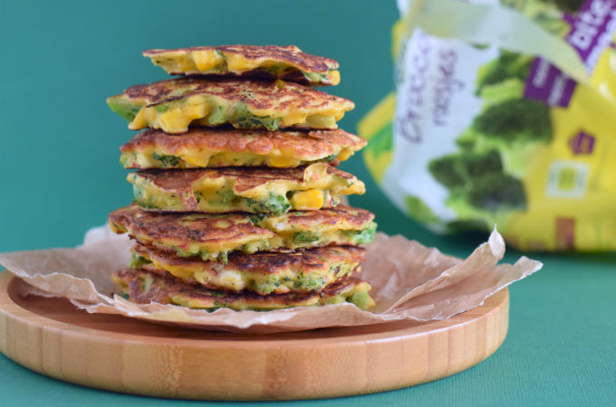 Maiskoekjes met broccoli en feta - Anniepannie