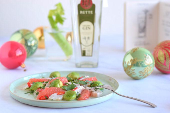 Ceviche van zeebaars met gin en grapefruit - Anniepannie