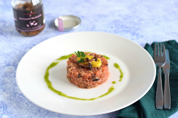 vegan steak tartare met peterselieolie - anniepannie