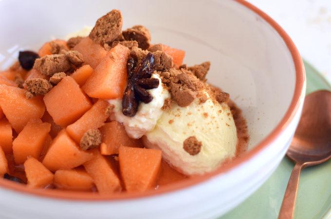 Dessert met kweeperen en hangop - Anniepannie