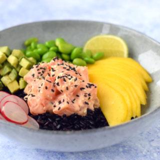Pokebowl met zalm en mango - Anniepannie