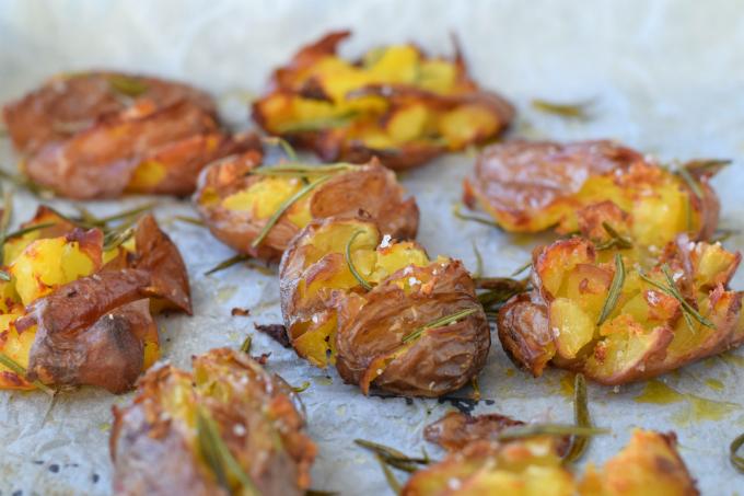 Geplette Roseval aardappels uit de oven - Anniepannie