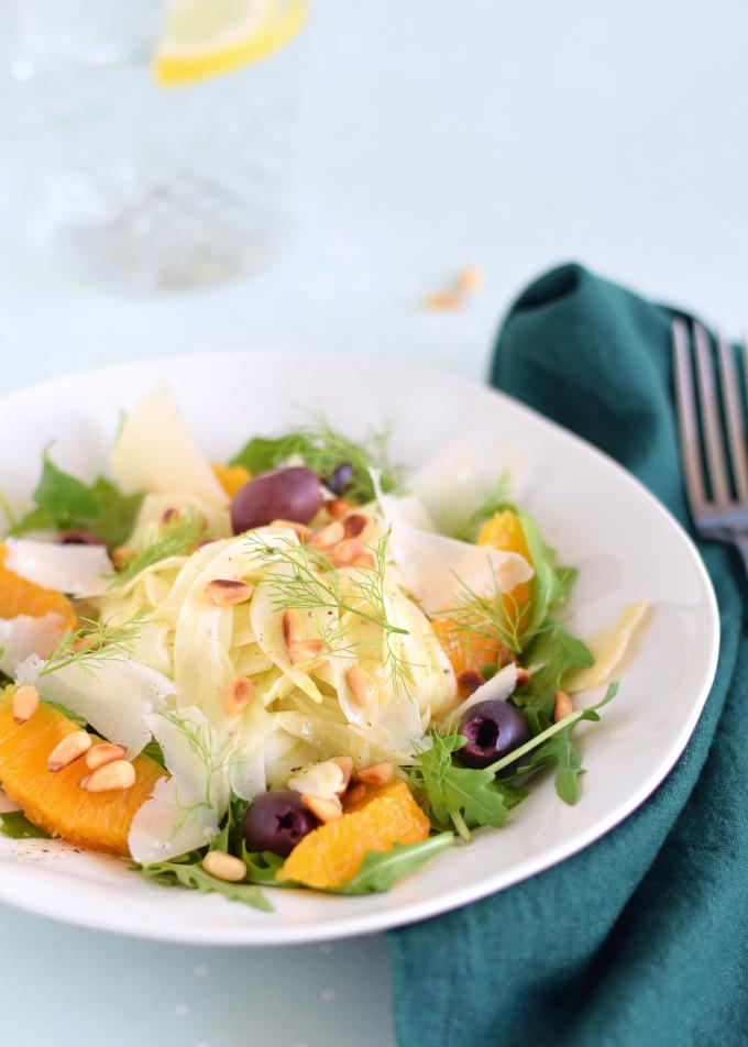 Venkelsalade met sinaasappel en olijven - ANNIEPANNIE