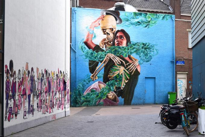 Toffe muurschildering in Eindhoven