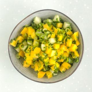 Mango salsa met komkommer - ANNIEPANNIE