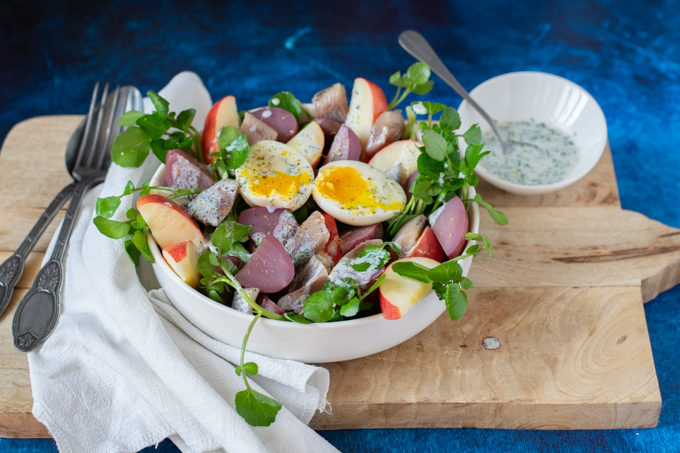 Salade met waterkers en haring ANNIEPANNIE-2