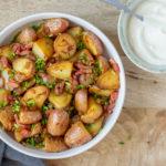 Bratkartoffeln - Duitse gebakken aardappelen met spek, ui en bieslook