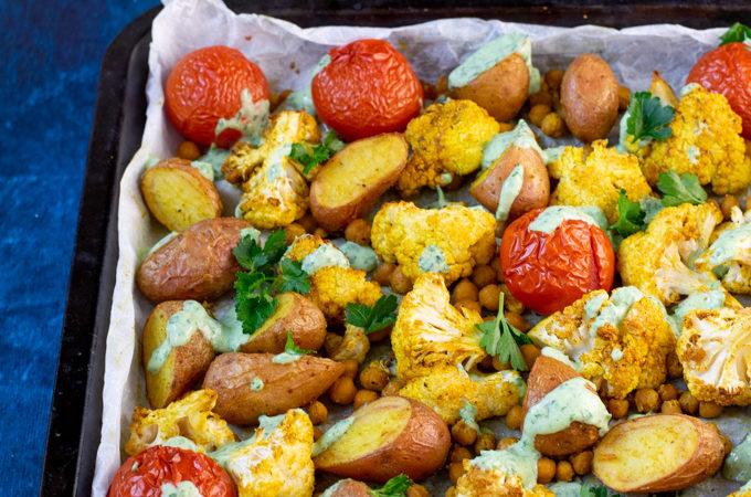 Indiase traybake met aardappel en bloemkool - ANNIEPANNIE-1
