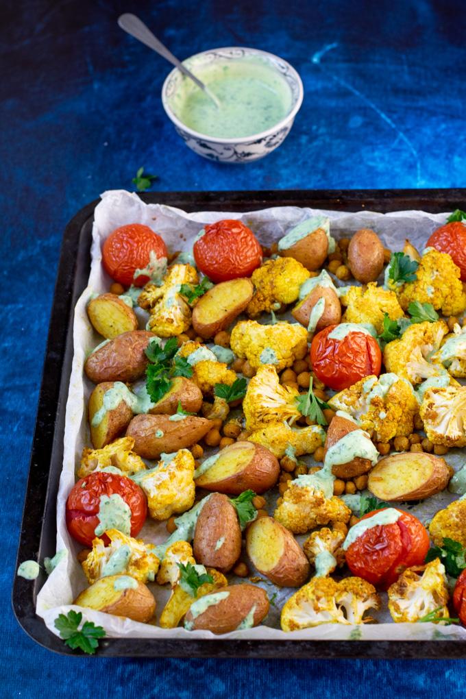 Gegrilde groente uit de oven met Indiase kruiden - ANNIEPANNIE