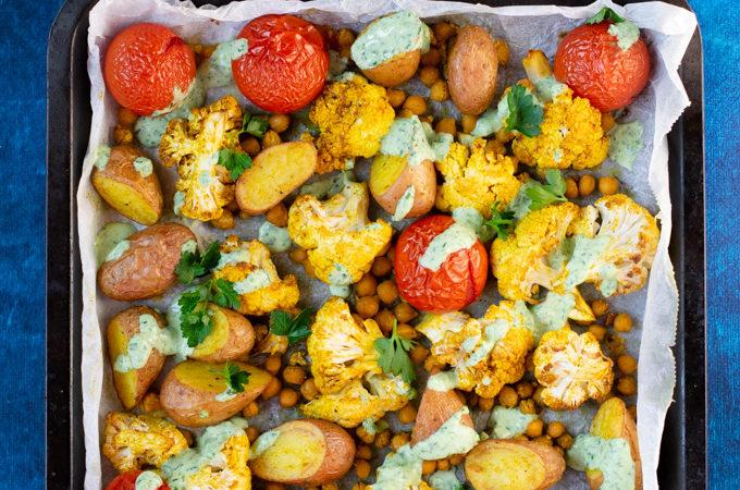 Indiase traybake met aardappel en bloemkool - ANNIEPANNIE-2
