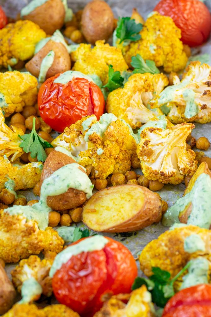 Bakplaat met gegrilde groente 'India style' - ANNIEPANNIE