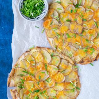 Pizzas van platbrood en aardappel ANNIEPANNIE
