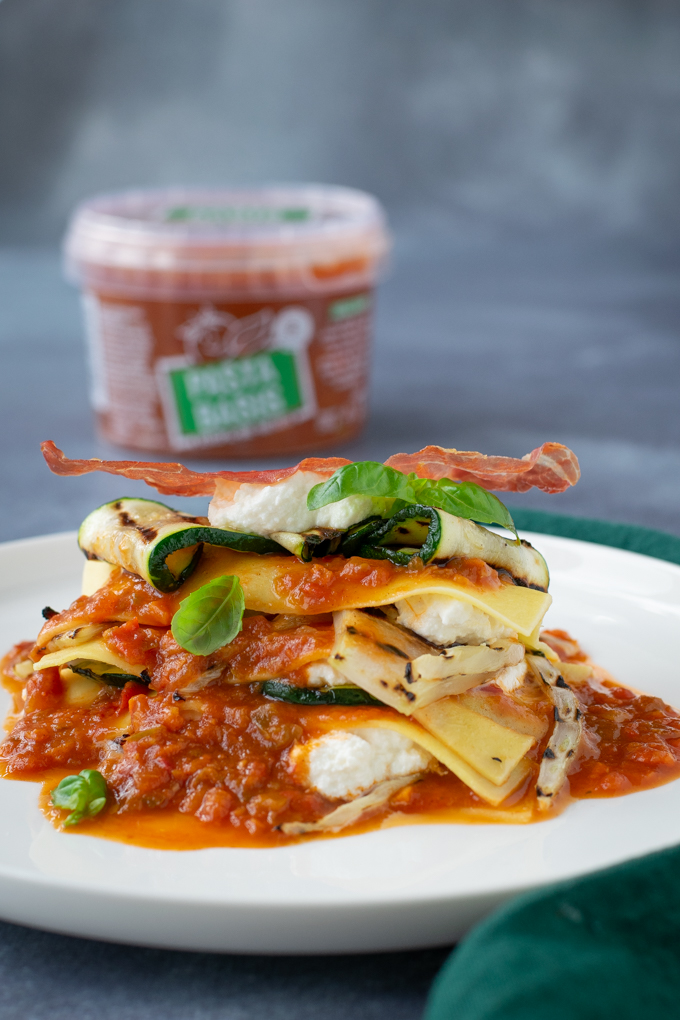 Open lasagne met gegrilde groente en Parmaham - ANNIEPANNIE