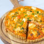Quiche met feta harissa en spinazie