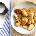 Krokante aardappeltjes uit de koekenpan