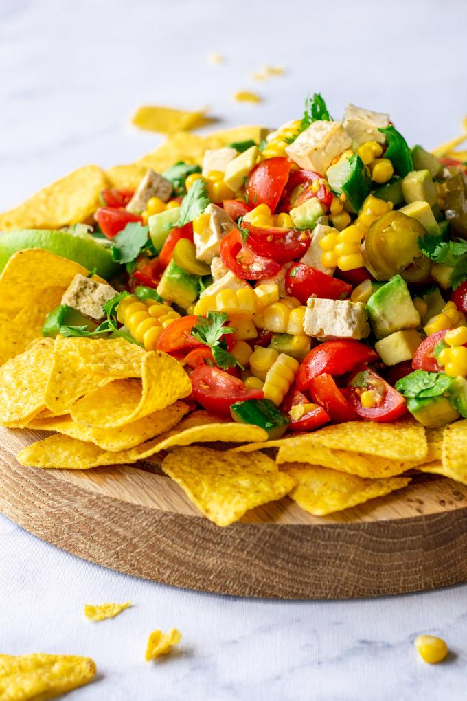 Mexicaanse salade met tortillachips - ANNIEPANNIE