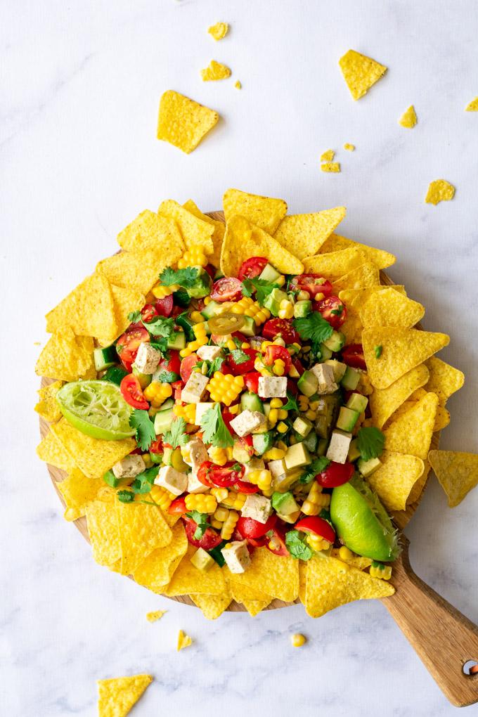 Mexicaanse salade met nacho's - ANNIEPANNIE