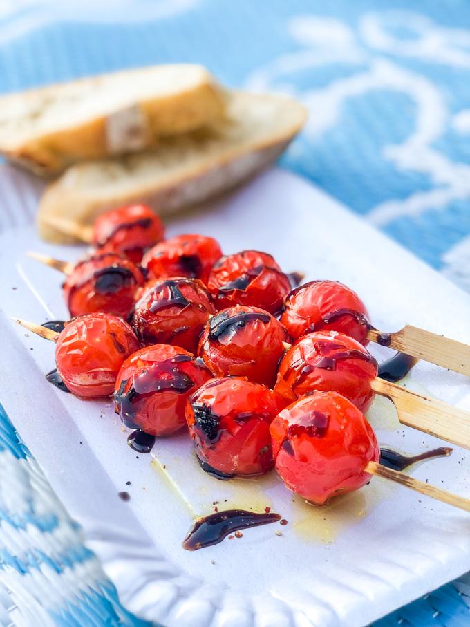 Tomatenspiesjes van de barbecue - ANNIEPANNIE