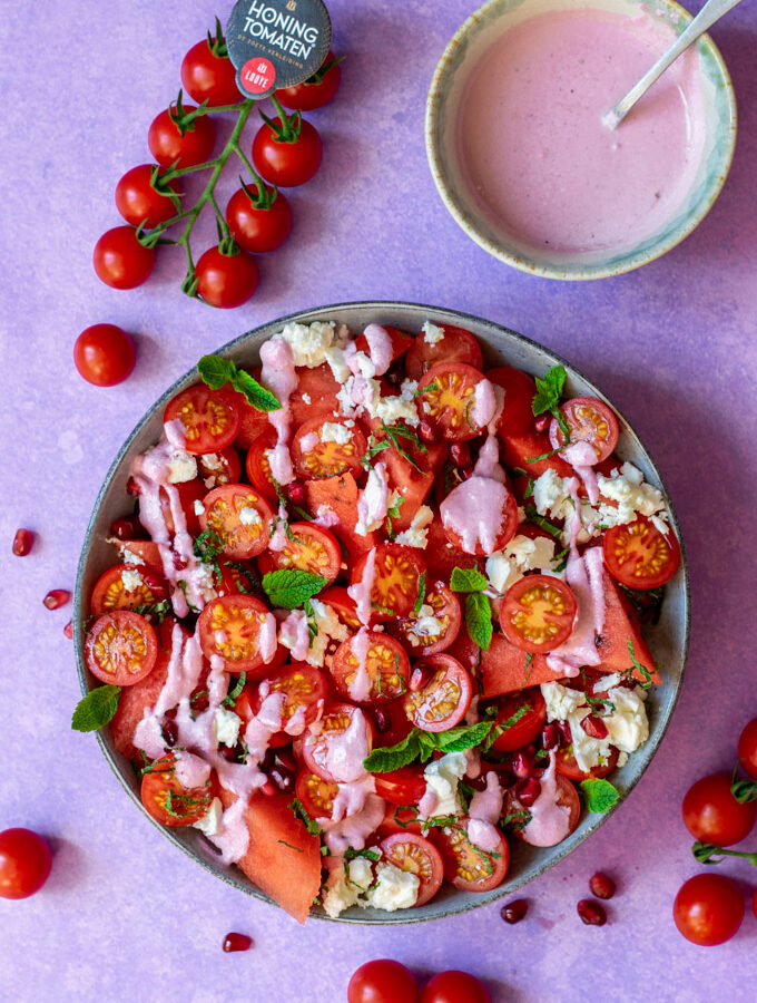 Watermeloensalade-met-tomaatjes-ANNIEPANNIE-1