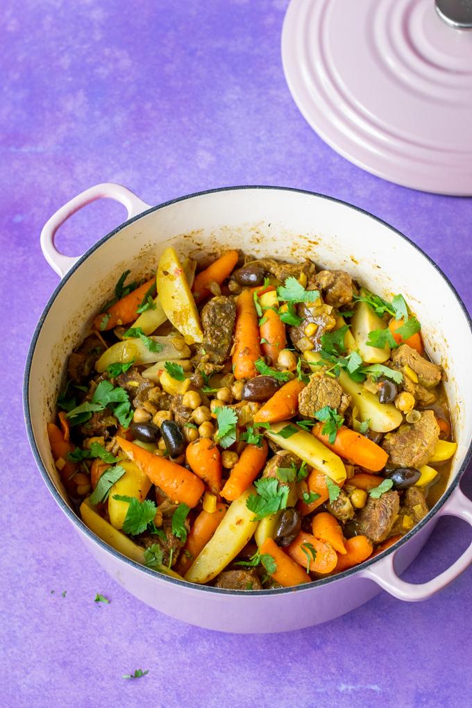 Tajine met rundvlees wortels en ingelegde citroen - ANNIEPANNIE